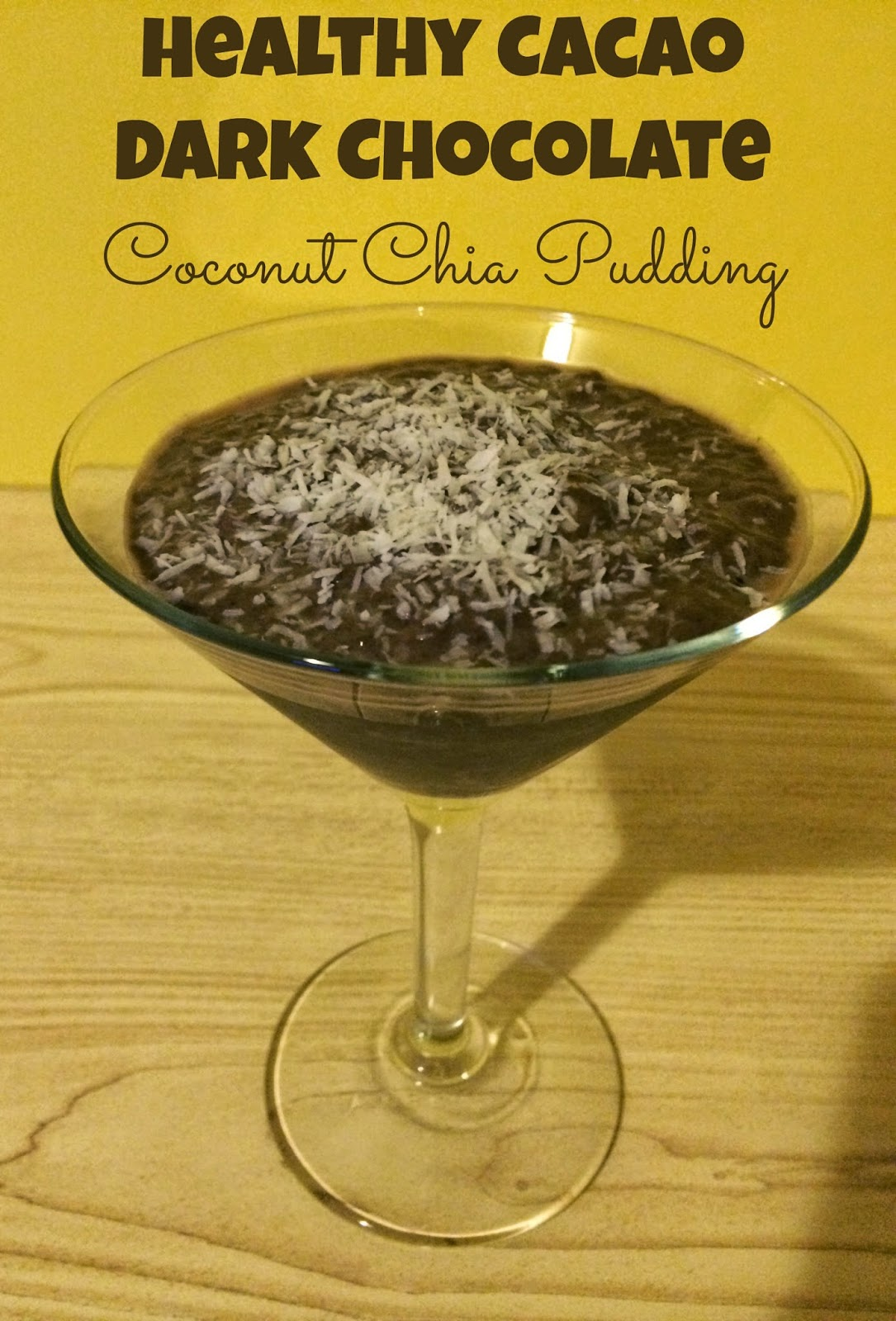 ... Mom and Losing It: Healthy Cacao Dark Chocolate Coconut Chia Pudding
