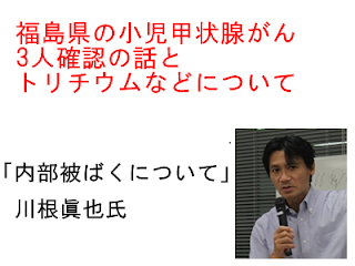 福島県の小児甲状腺がん3人確認の話とトリチウムなどについて-2013年2月17日川根眞也先生の内部被曝に関する連続ツイートまとめ