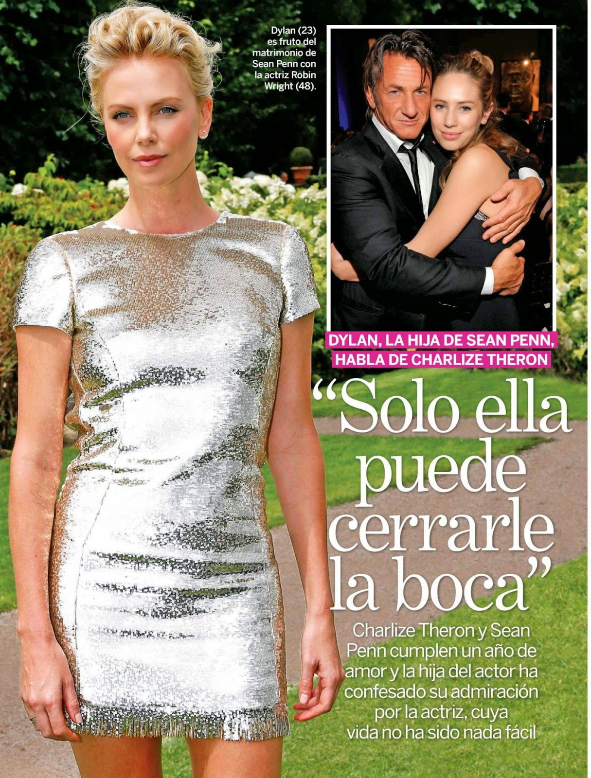 Charlize Theron - Lecturas, Spain, January 2015