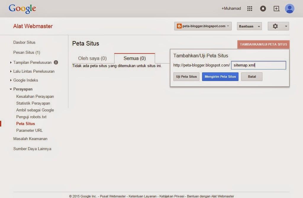 Cara Mengirim Peta Situs/Sitemap Google dan Bing Webmaster