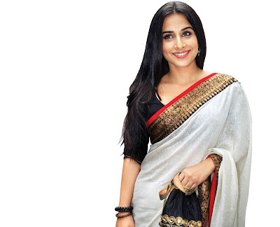 Bollywood Actress Vidyabalan White Saree Photos