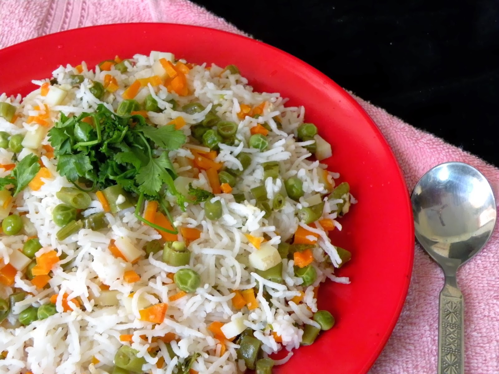 Mixed Vegetable Pulao Recipe ~ Full Scoops