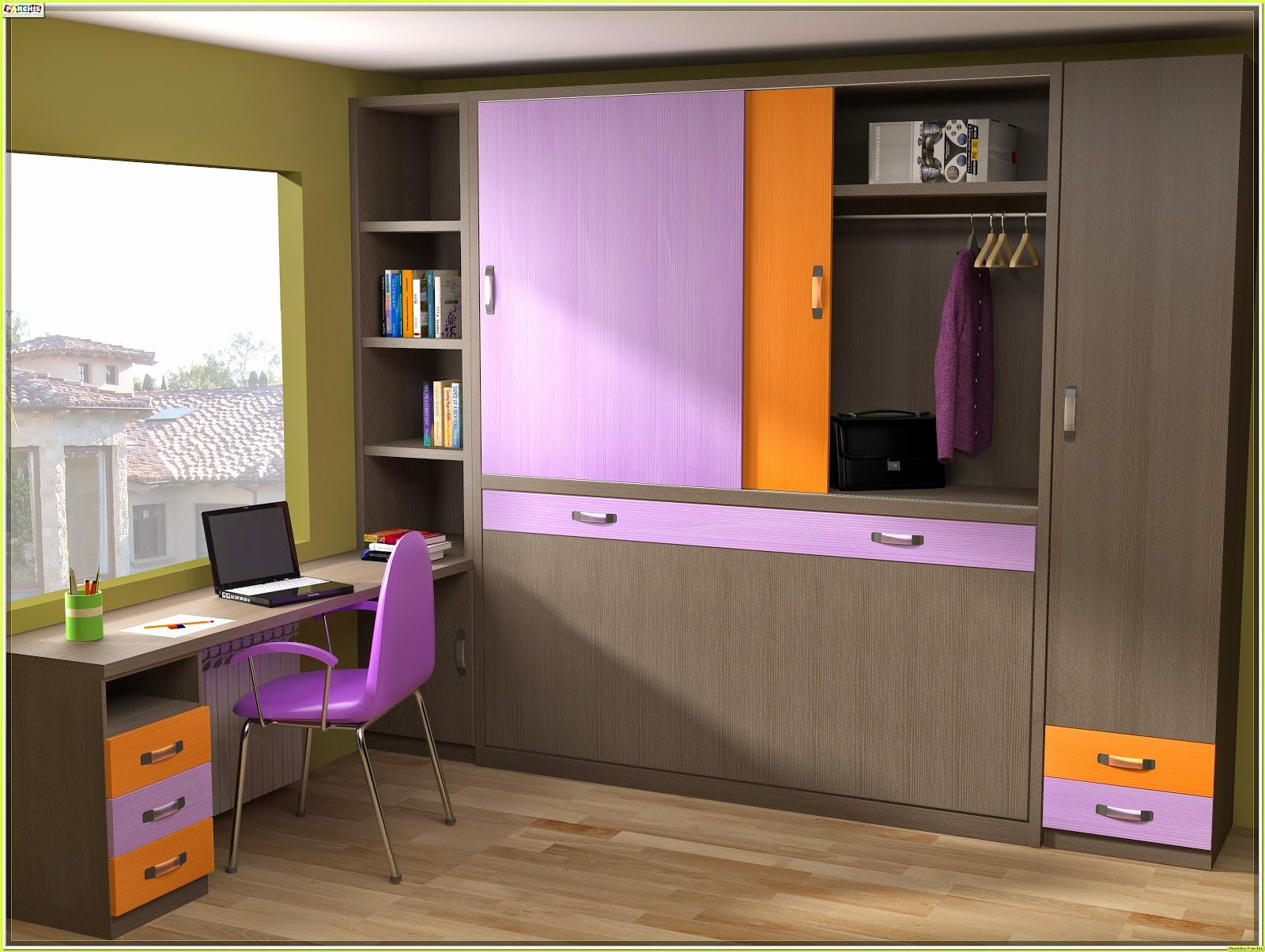 Cama mesa abatible camas autoportantes camas abatibles for Habitaciones juveniles cama 105