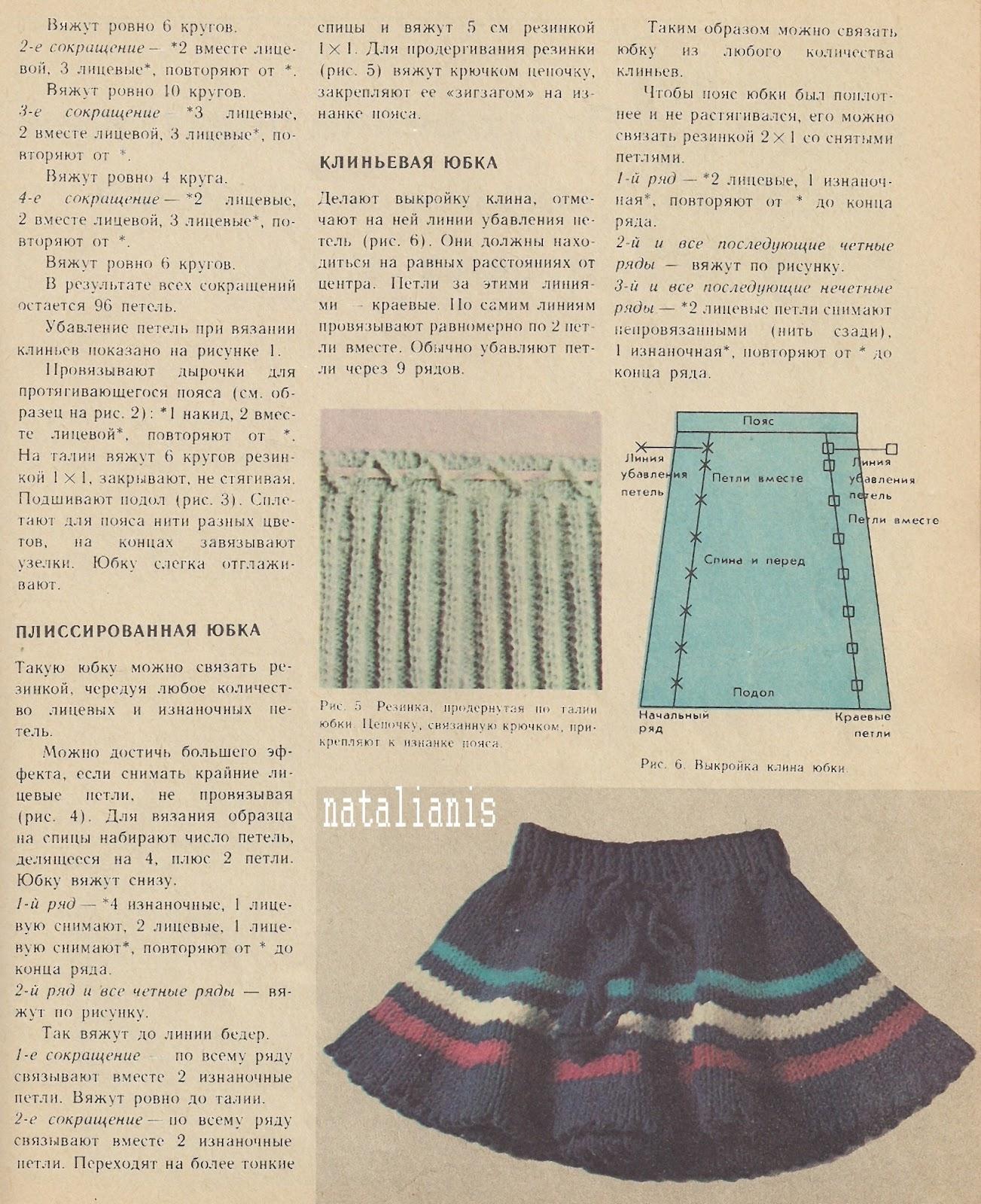 Вязание спицами детских юбочек спицами с описанием 22