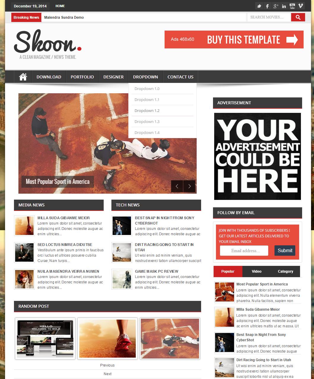 Share Shoon Responsive Blogger Template