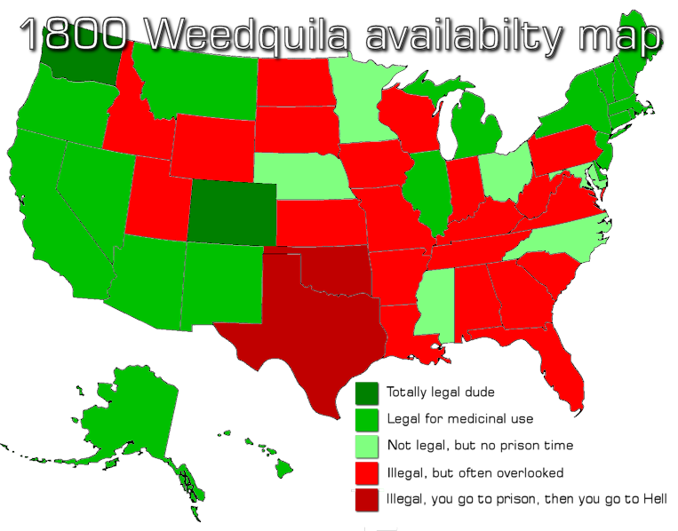 1800 Weedquila Availability Map
