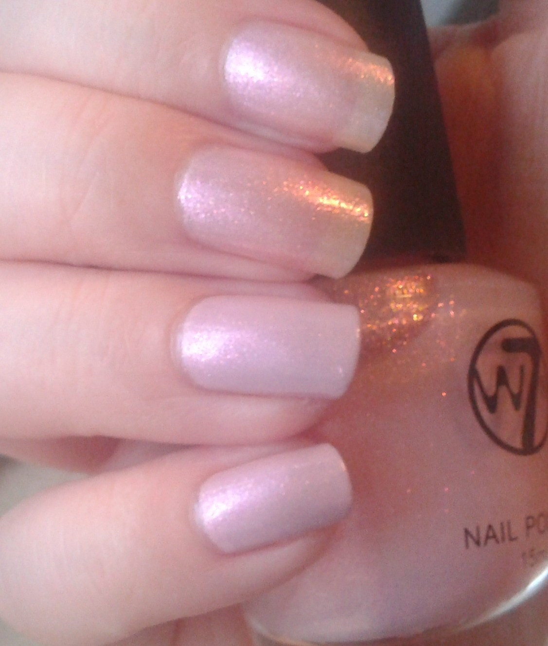 Geordie Nails: W7 ~ Pink Pearl