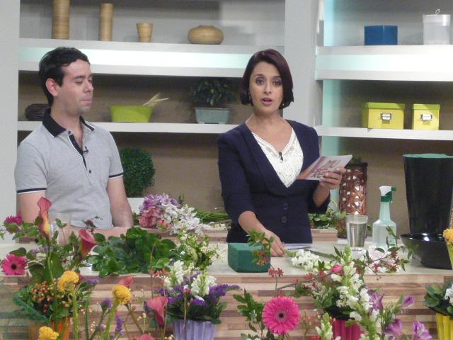 Ikebana de Primavera , TV Gazeta com Katia Fonseca.
