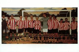 Equipo del Athletic, por José Arrúe, pintado entre 1915 y 1916