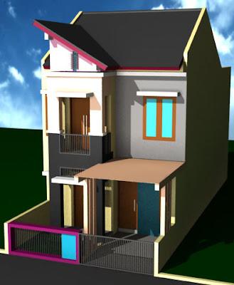 Gambar Desain Rumah 2 Lantai Tipe 36