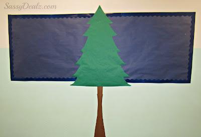christmas tree classroom bulletin board