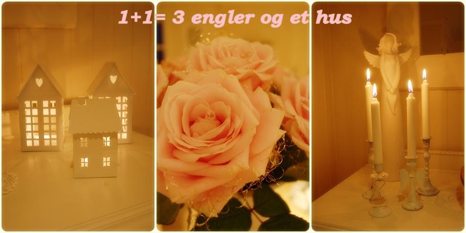 1 + 1 = 3 skjønne engler og et hus