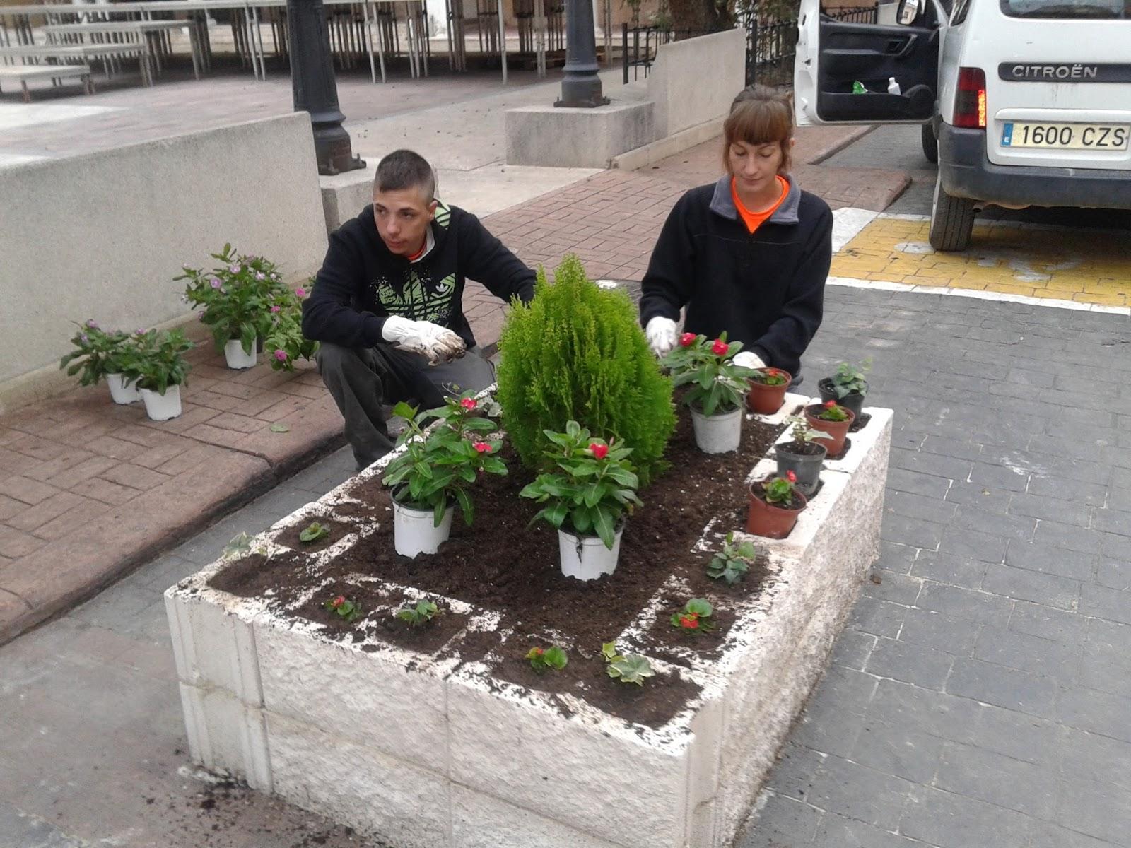 Escuela taller restauraci n del patrimonio minero algunos for Jardineras con bloques