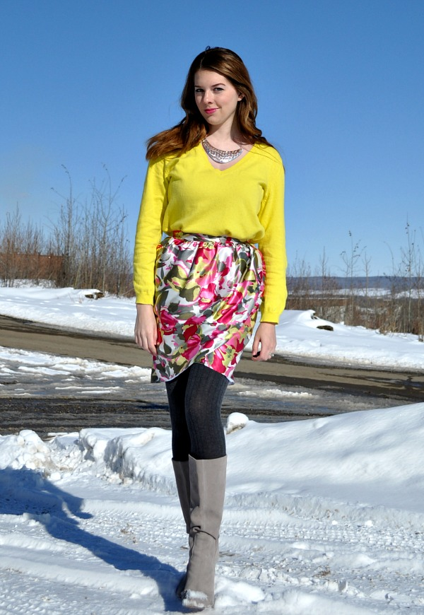 Neon Sweater, Tulip Skirt
