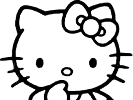 Emo Hello Kitty Printable Coloring Pages
