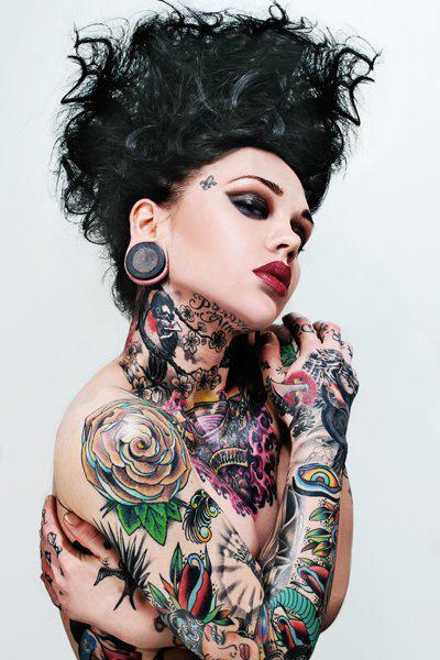 Rose Shoulder and Neck Tattoo