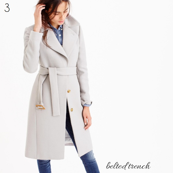 J. Crew belted trench coat