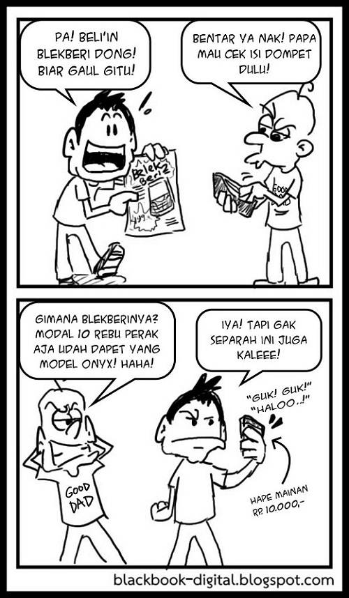 Komik Lucu BlackBerry