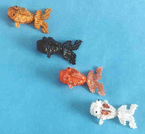 Idele gilbert miniature beaded bears and other animals for Koi fish beads