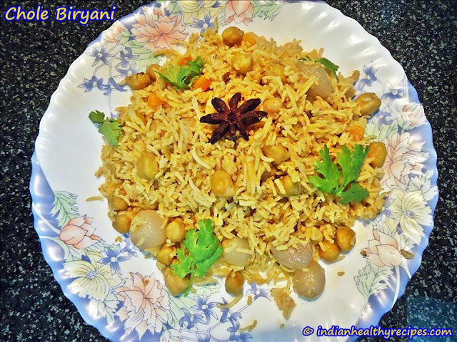 chole biryani | channa biryani