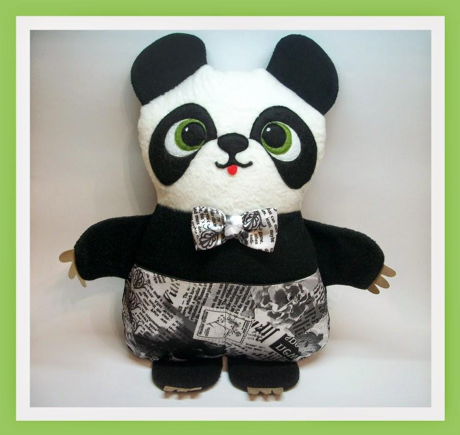 панда, игрушка-подушка