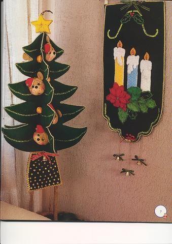 El mundo magico de sirena varias cosas navidenas en fieltro - Cosas de fieltro ...