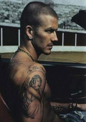Marthaa yoge david beckham tattoos 2012 for David beckham tattoo sleeve