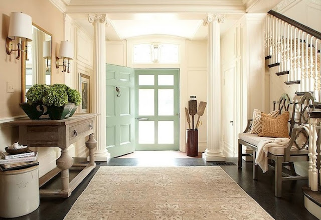 French country style make a great first impression with a for Country foyer ideas