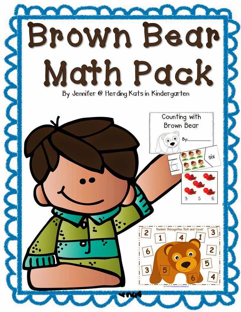 http://www.teacherspayteachers.com/Product/Brown-Bear-Math-Pack-1426698