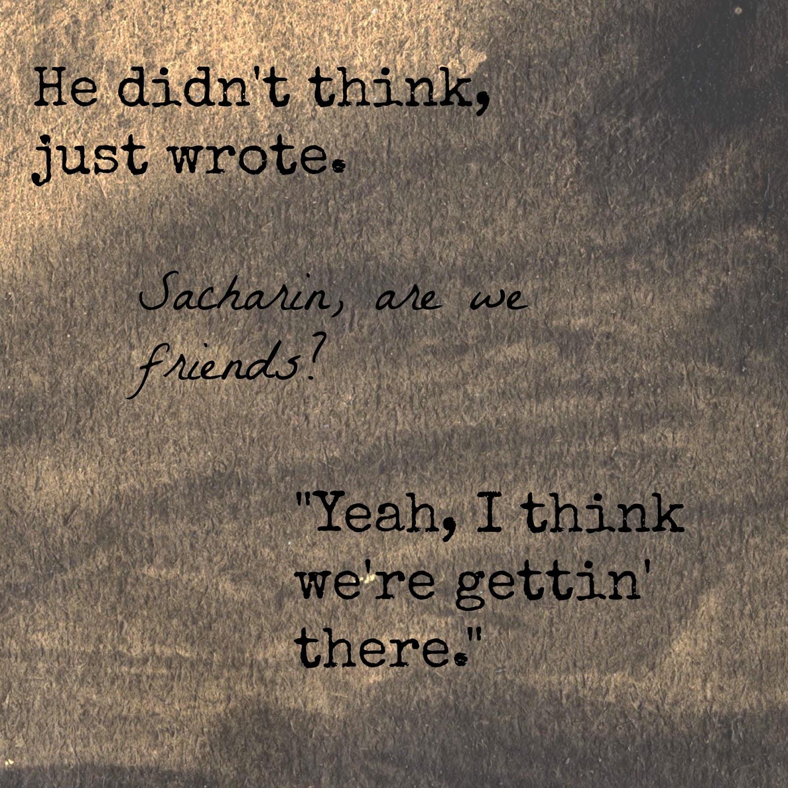 Do you ever write anything?