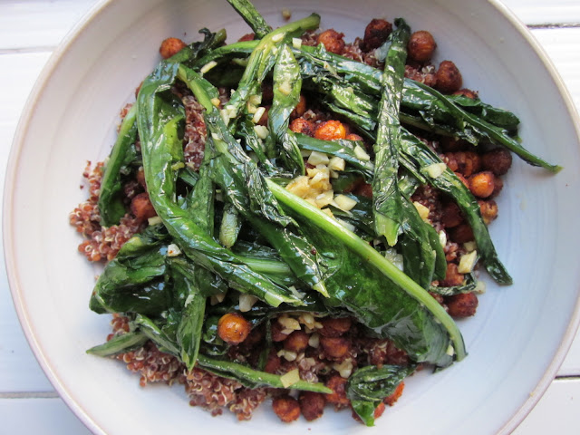 ... Kitchen: Smoked Paprika Chickpeas and Garlic Dandelion Greens