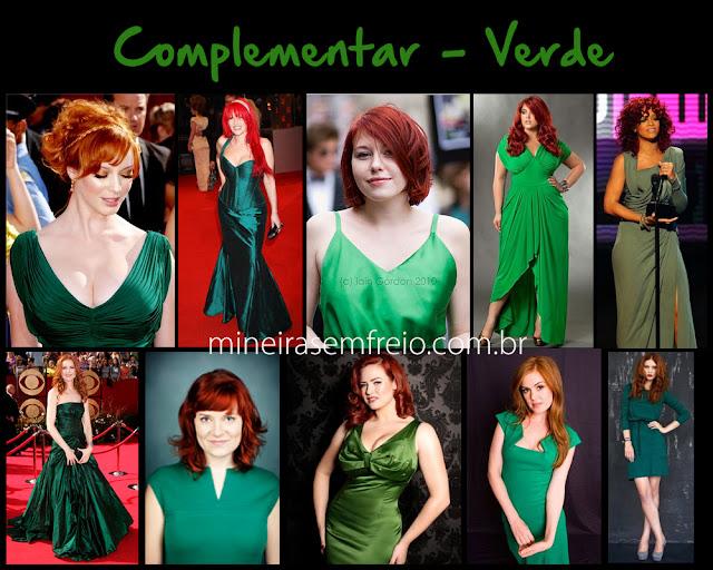 Combinando o cabelo vermelho com roupas verdes por Mineira sem Freio