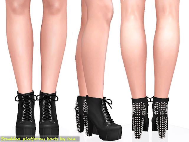 Lita Platforms by Icia Spike+litas+black