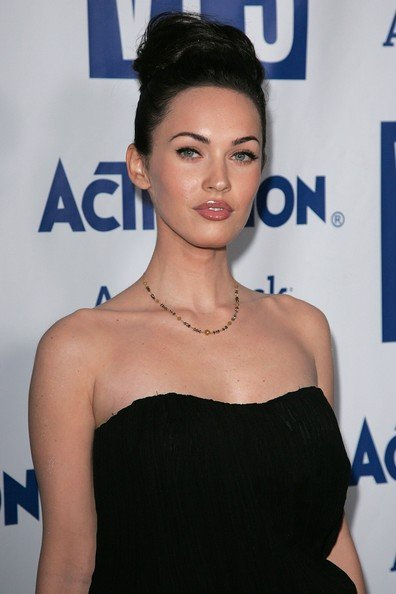 Megan Fox Family Pictures. Megan Fox in a updo hairstyle.