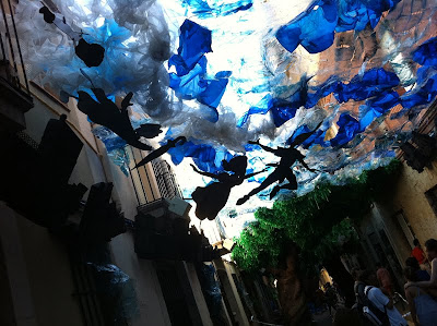 Barcelona sights - Peter Pan tribute