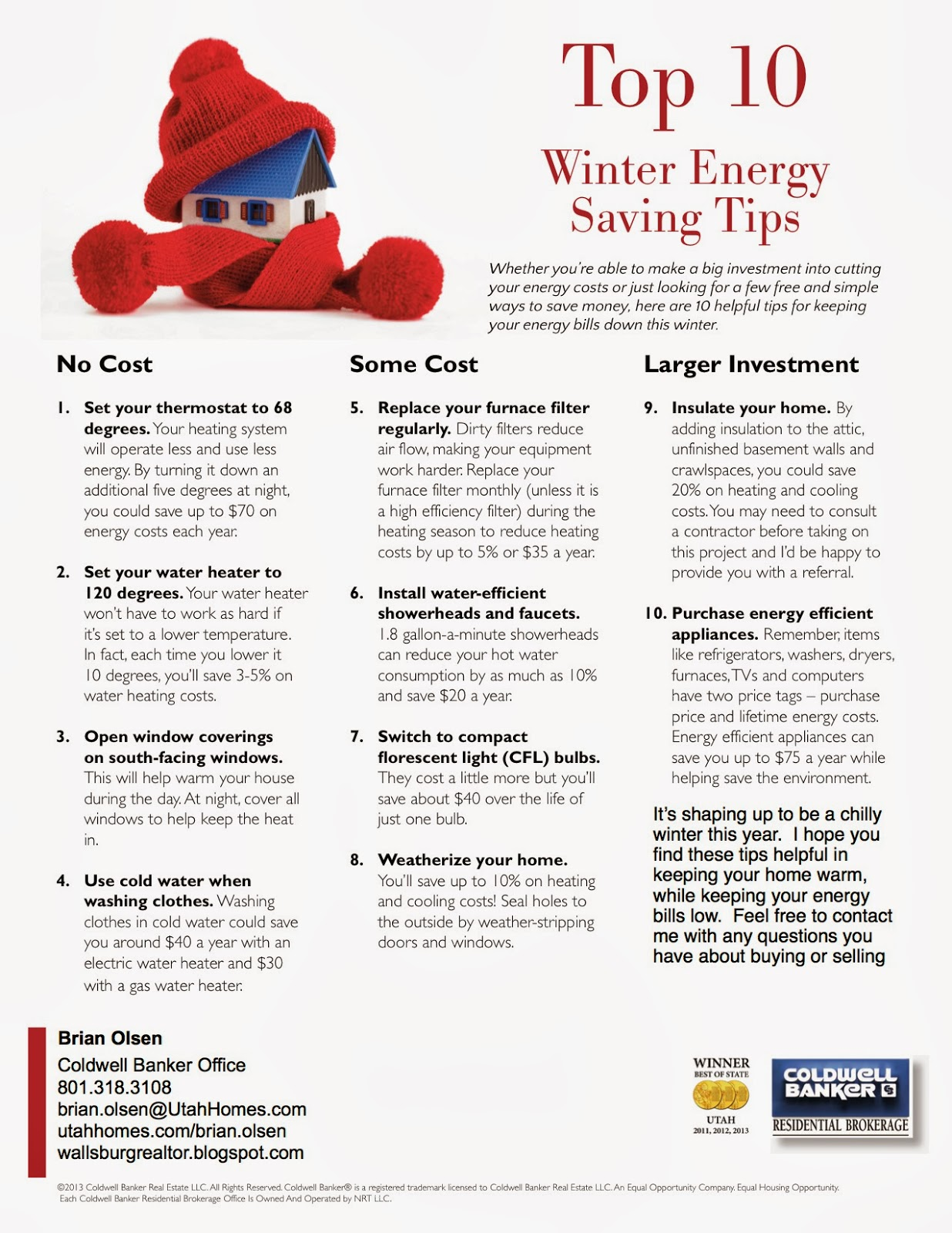Winter Energy Saving Tips for your home
