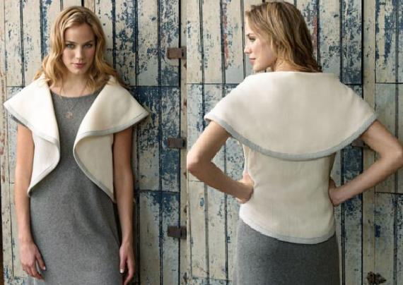 Como hacer un chaleco circular, superfacil, con o sin coser