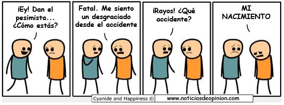 Viñeta: el hombre más pesimista (Cyanide and happyness en español)
