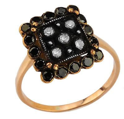 siyah pırlanta elmas yüzük