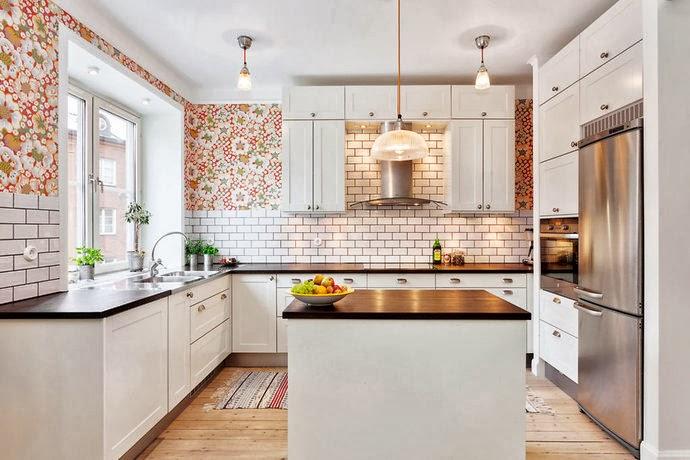 Papel pintado en la cocina si oasisingular - Papel para cocinas ...