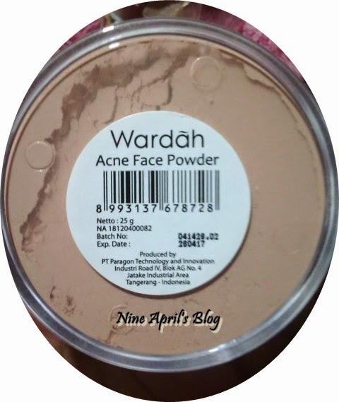 Review Acne Face Powder Wardah Nine April