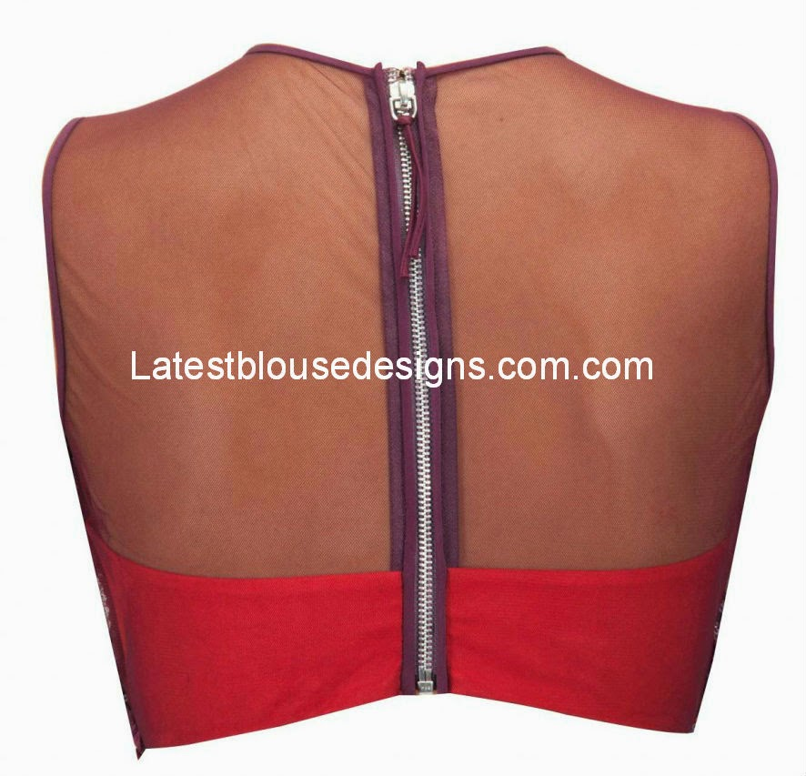 zipper back saree blouse