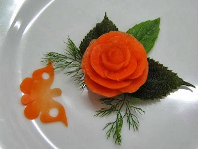 Món ăn ngon: Nghệ thuật trang trí đĩa hoa hồng
