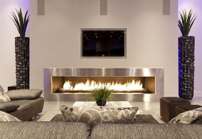 2013 classy living room interior with fireplace
