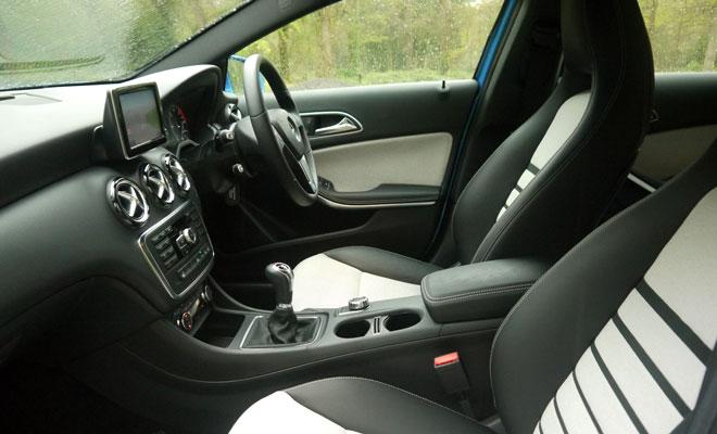Mercedes A180 CDI Eco SE front interior