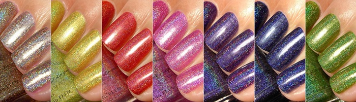 FUN Lacquer Summer 2014 Holo Polish Collection
