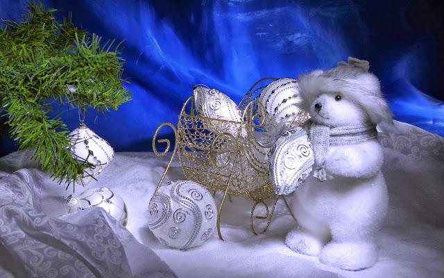 Toy Bear Happy New Year