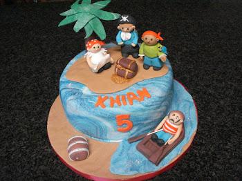 Pirate Island Cake