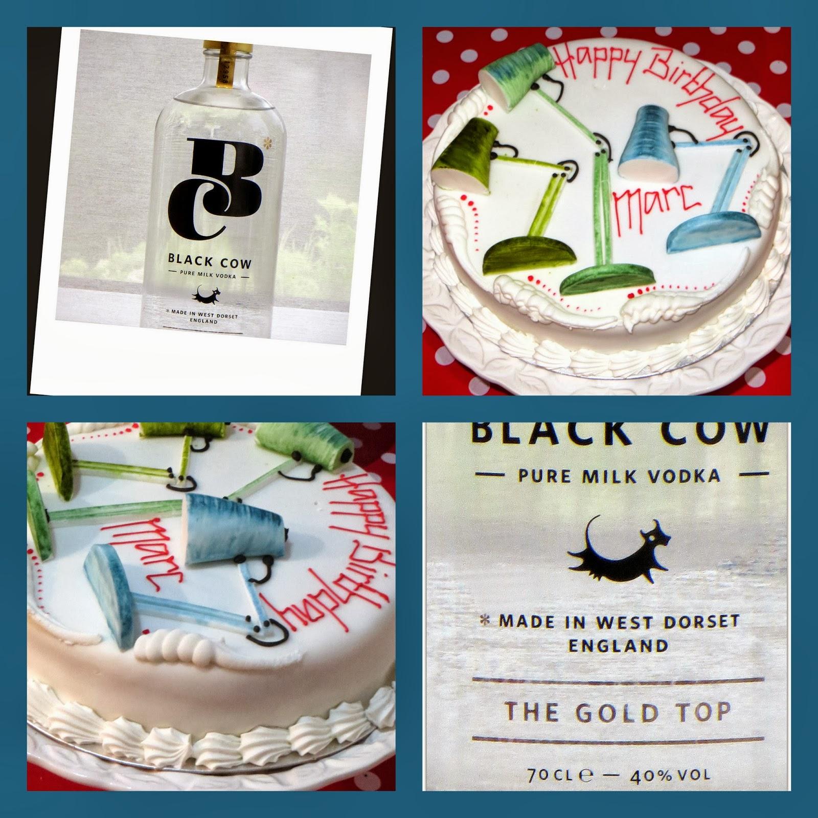 Black Cow Dorset Vodka And An Anglepoise Birthday Cake Lazy