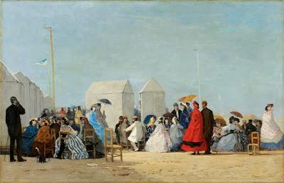 Eugène Boudin - Plage aux environs de Trouville,1864.